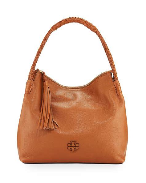 Burberry Top Zip Hobo by Burch Pebbled Leather Zip Top Hobo Bag In