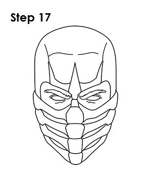 how to draw scorpion from mortal kombat x easy things to mortal kombat scorpion mask drawing www pixshark com