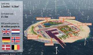 Small Vacation Home Plans artificial north sea island to power europe daily mail