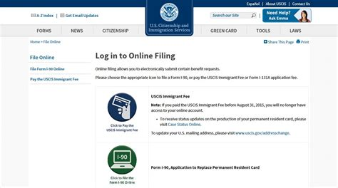 uscis immigrant fee payment guide uscis