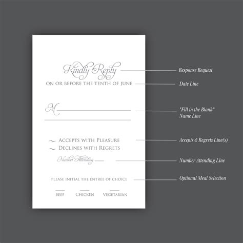 how to sign a wedding response card how to correctly word your wedding rsvp card meldeen