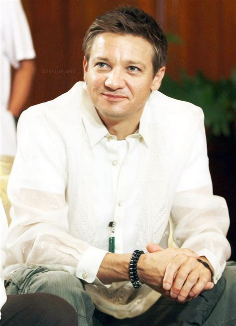 typical filipino male jeremy renner wearing a quot barong tagalog quot which is