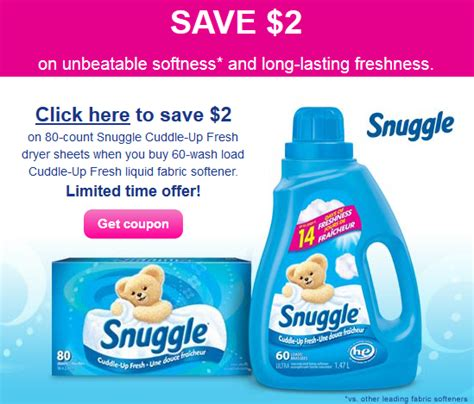 printable fabric softener coupons image gallery snuggle coupons