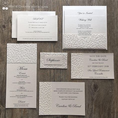 wedding invitation packets save 15 20 wedding invitation packages white