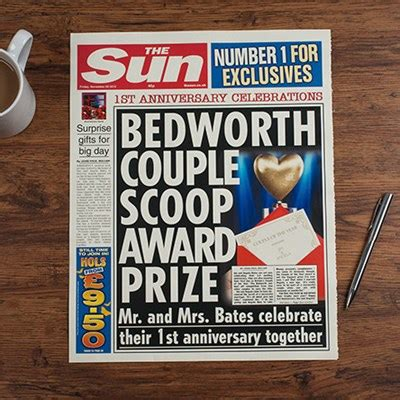 Personalised Newspaper Gift