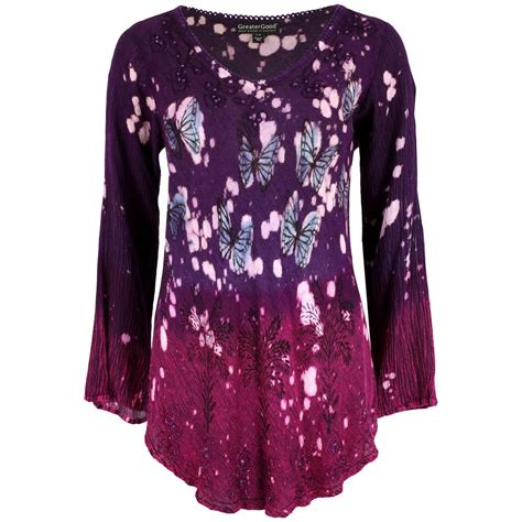 Buttetfly Tunik Cosmic Butterfly Sleeve Tunic The Rainforest Site