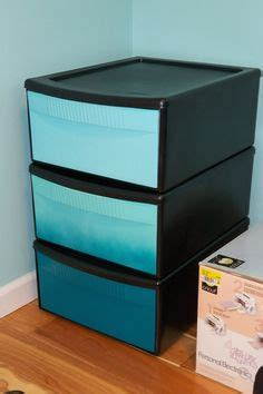 Plastic Pull Out Storage Drawers by I Spray Painted Plastic Storage Drawers For College And