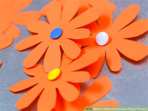 How To Make Easy Flowers Out Of Construction Paper - 3 ways to make paper flowers wikihow