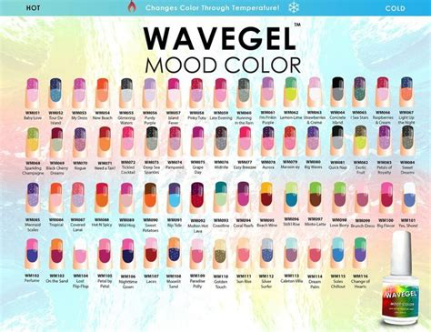 mood color chart crochet tips pinterest mood colors wavegel wave gel mood color gel nail polish chart