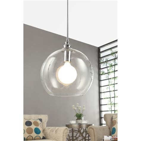 globe pendant light clear uptown clear globe 1 light chrome pendant