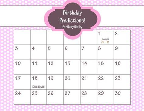 baby due date pool calendar calendar printable template