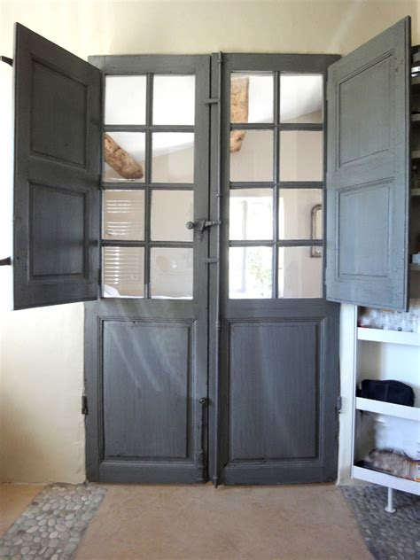 Antique Dutch Door And french door with folding shutters interior doors portes