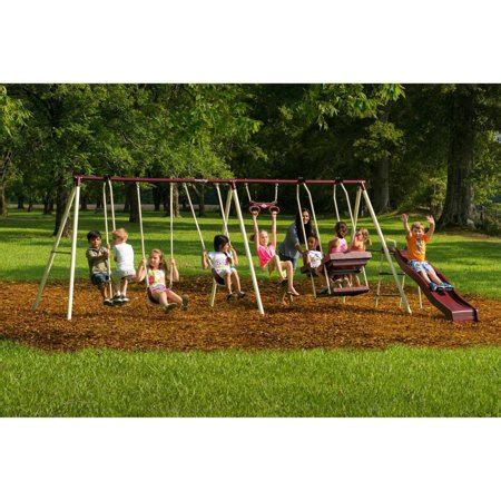 flyer play park metal swing set walmart - Metal Swing Sets