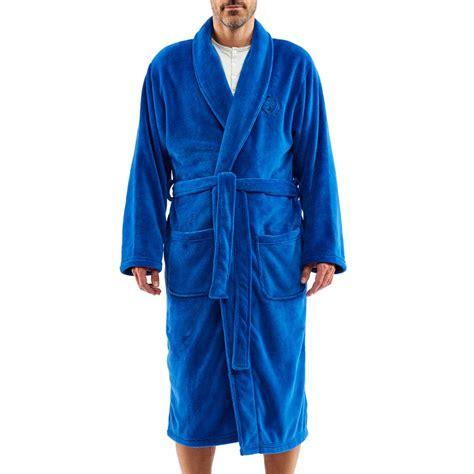 robe de chambre arthur en polaire bleu jean rue des hommes