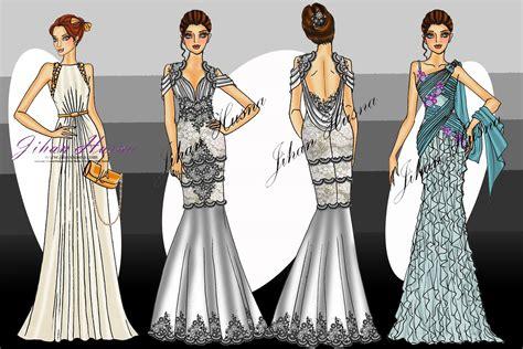 desain gaun yang indah sketsa desain gaun malam jihanhusna spesialis rumah