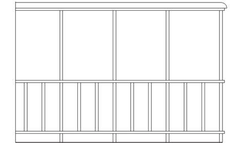 barandilla bloque autocad descarga gratuita del bloque autocad barandilla recta