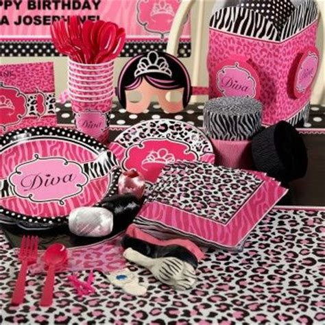 Cheetah Birthday Decorations by Diva Zebra Print Deluxe Party Pack For 8 Maybe For Ella S