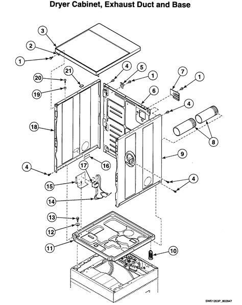 speed dryer parts diagram dryer cabinet diagram parts list for model ltsa9awn