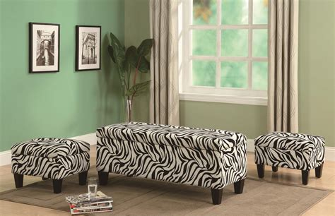 Zebra Print Living Room Set Furniture Gt Living Room Furniture Gt Ottoman Gt Zebra Print Ottomans