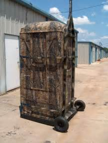 Portable Ground Blind Mobile Hunting Trailers Blinds Realtree Portable Blinds