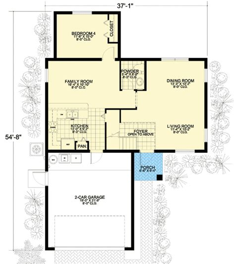 modest footprint 32226aa architectural designs house