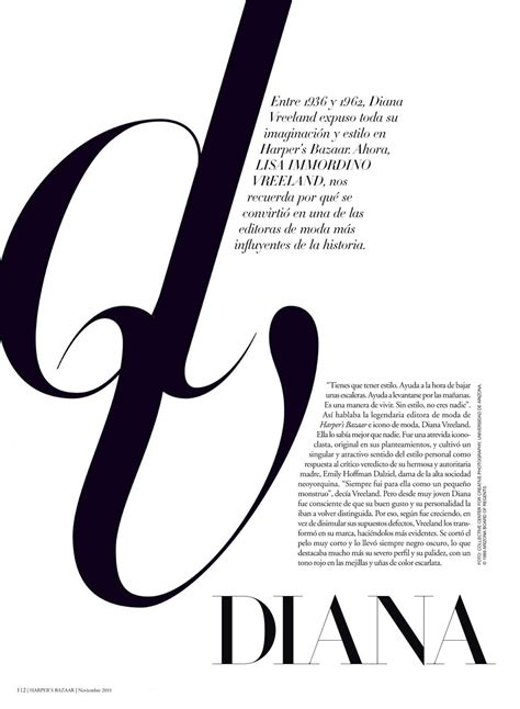 magazine layout font size harper s bazaar type eh