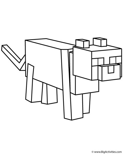 minecraft blaze coloring page minecraft ocelot coloring pages 01 printables
