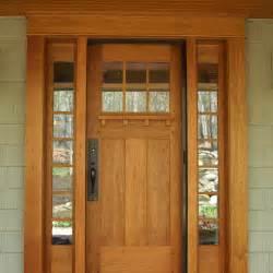 Craftsman Front Doors Cherry Entry Door Accented By Craftsman Hardware