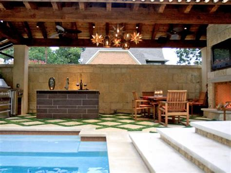 Outdoor Kitchen Designs With Pool Photo Page Hgtv