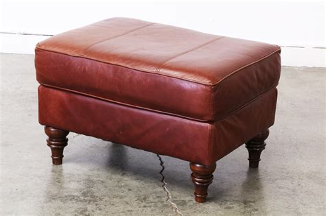 brown leather ottoman vintage brown leather ottoman vintage supply store