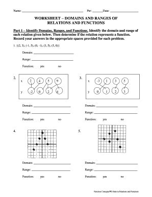 Relations And Functions Worksheet by All Worksheets 187 Domain And Range Worksheets With Answers