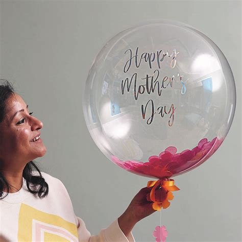 personalised mother s day flower confetti balloon by