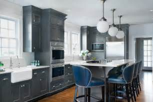 Grey Blue Kitchen Cabinets by 24 Grey Kitchen Cabinets Designs Decorating Ideas