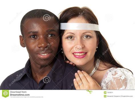 imagenes hombre negro mujer blanca hombre negro y mujer blanca imagen de archivo imagen