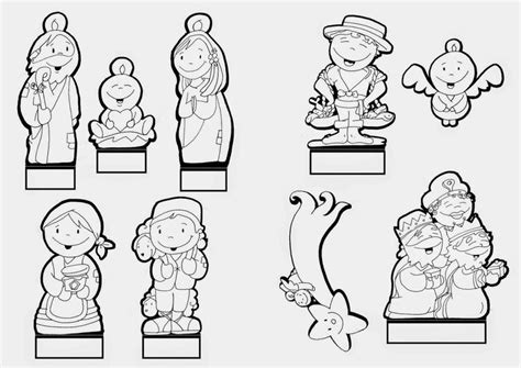 imagenes de nacimientos navideños para colorear y recortar mejores 347 im 225 genes de navidad belenes en pinterest