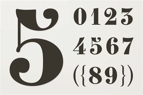 typography numerals number fonts 10 stylish exles design shack