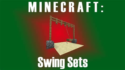 minecraft swing minecraft working swing sets youtube