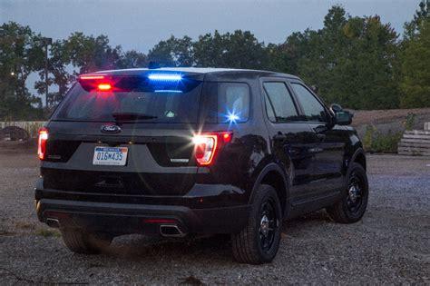 ford adds rear spoiler traffic warning lights   police interceptor utility  news wheel