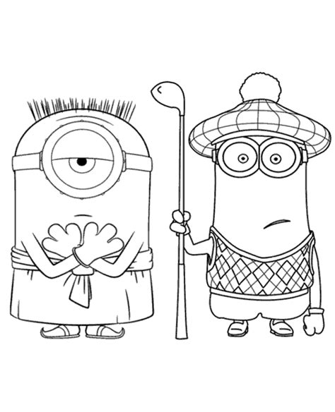 minion golfer coloring page minions colouring pages 30 to print or download for free