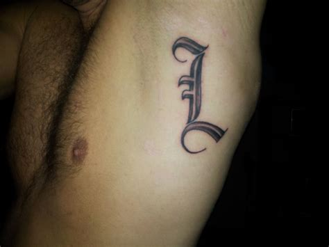 letter l tattoo own modification by xmikkex1 on deviantart