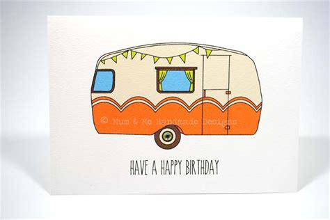 Motorhome Birthday Cards Happy Birthday Card Male Vintage Cer Orange