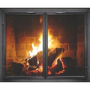 contemporary georgian masonry fireplace glass doors