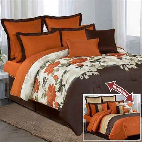 coral and brown bedding coral brown 12 piece comforter set 200 00 bedding