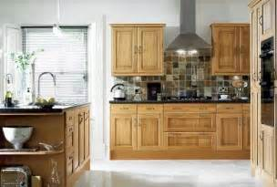 Ask maria how to coordinate finishes with oak cabinets