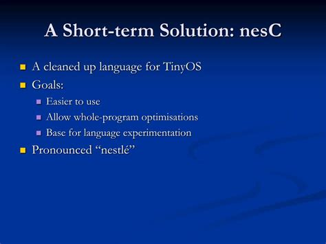 coding shortest solution ppt nesc a programming language for motes powerpoint