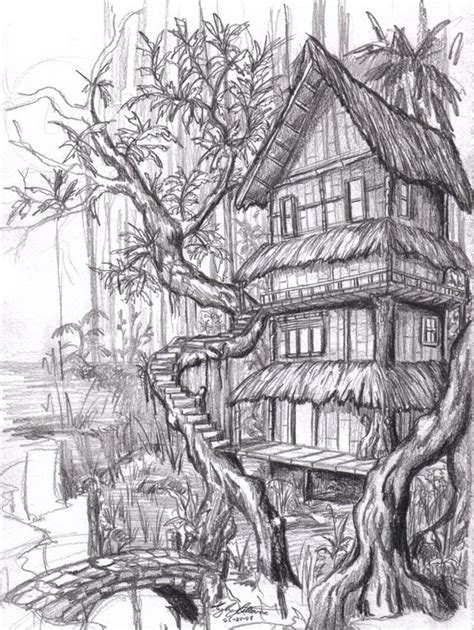 draw houses 10 beautiful house pencil drawings for inspiration hative