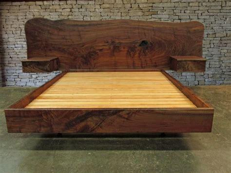 floating king size headboard claro walnut slab headboard bed california king frame