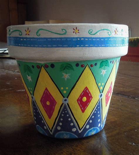 vaso di coccio vaso di terracotta dipinto a mano per la casa e per te