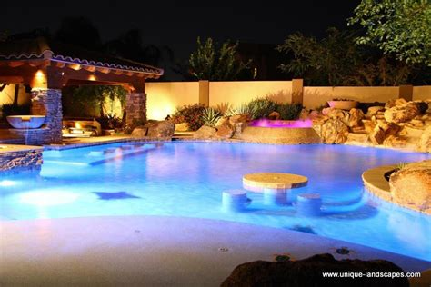 best backyards swim up bars and swimming pools in phoenix az photo gallery