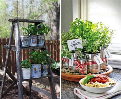tin can garden diy tin can herb garden swiish fashion